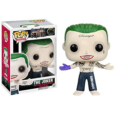 Funko POP Movies: Suicide Squad Action Figure, The Joker Shirtless: Funko Pop! Movies:: Toys & Games