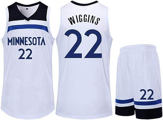 Minnesota Timberwolves # 22 Andrew Wiggins Trajes De Uniforme De ...