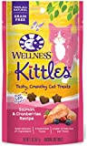 Wellness Kittles Grain Free Salmon & Cranberries Crunchy Natural Cat Treats, 2-Ounce Bag