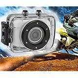 Fotocamera Digitale Azione 5,0 HD 1080p Impermeabile Grigio