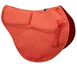 ECP Cotton Correction All Purpose Contoured Saddle Pad - Memory Foam Pockets Coral
