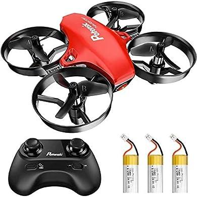 Potensic Mini Drone RC Helicopter Quadcopter para Niño y Principiante con Control Remoto, Modo sin Cabeza, Altitude Hold, 3 Modos de Velocidad, 3 Baterías, A20 Rojo a buen precio