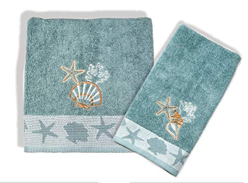 Better Homes and Garden Coastal Bath Towel and Hand Towel