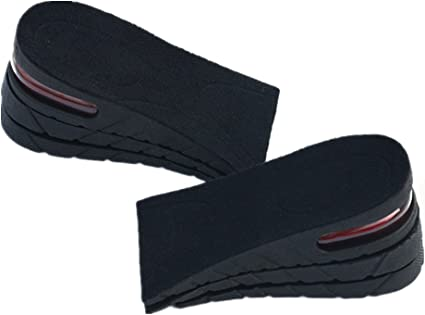 Height Increasing Elevator Shoes Insoles Lifting Inserts Grow Taller Two Layers
