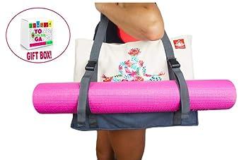 LUCKAYA - Bolsa de Yoga Grande con Correas Ajustables. Caja ...