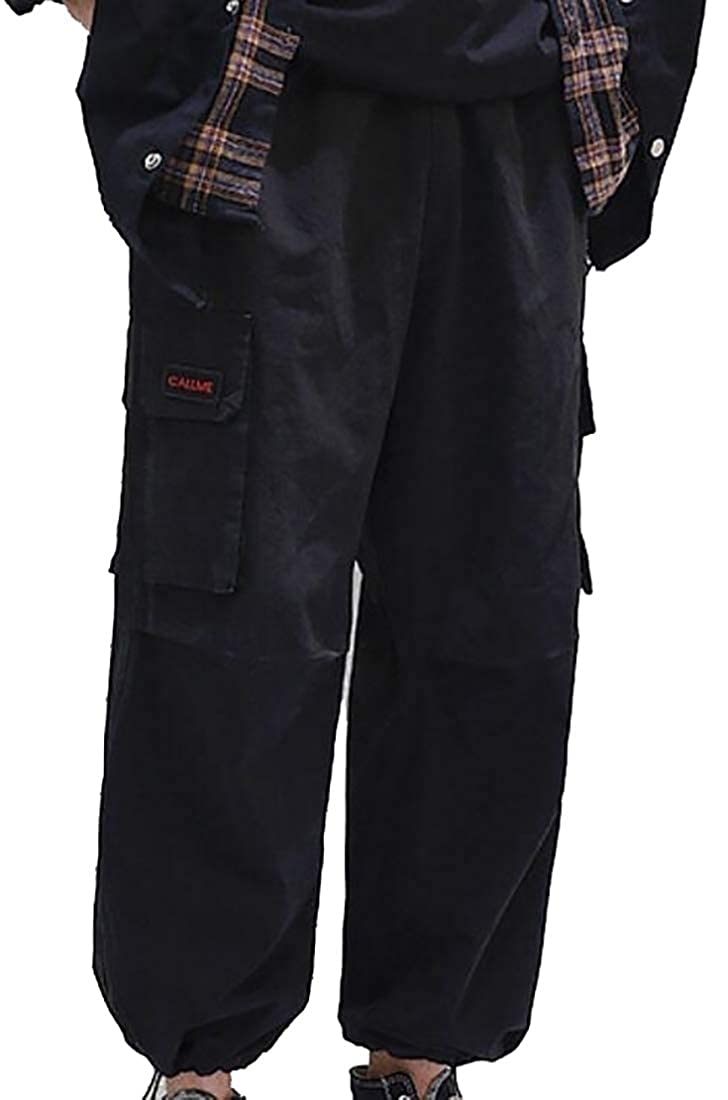 Hokny TD Mens Work Drawstring Multi-Pockets Military Jogger Stylish Pants