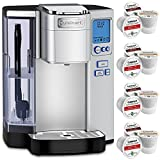 Cuisinart Premium Single Serve Coffeemaker (SS-10) with Coffee Bar K Cup Single Serve 12 Capsules