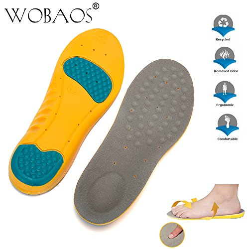 WOBAOS Memory Foam Orthopedic Silica Gel Shoe Insole, - Kids Basketball Boots