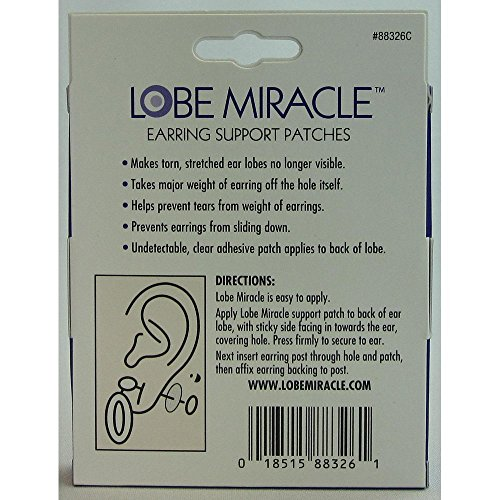 Lobe Wonder Earring Support Patches, 60-Count (Pack of 3)