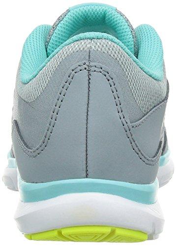Nike Womens Flex Trainer 5 Scarpe Tortora / Grigio Chiaro / Verde Acqua / Volt