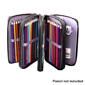 colored pencil bag with 72 pencil holder slots. Black Bedroom Furniture Sets. Home Design Ideas