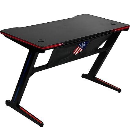 Amazon Com Insoria Ergonomic Z Shaped Gaming Desk Pc Gaming Desk