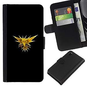 All Phone Most Case / Oferta Especial Cáscara Funda de cuero Monedero Cubierta de proteccion Caso / Wallet Case for Sony Xperia Z3 D6603 // Zapos P0Kemon