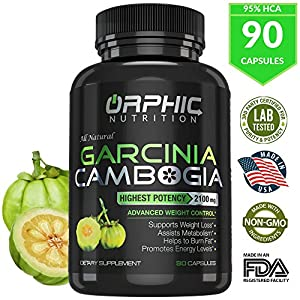 100% Pure Cambogia Extract 95% HCA, 2100 mg Capsules | 100% Natural Appetite Suppressant |…