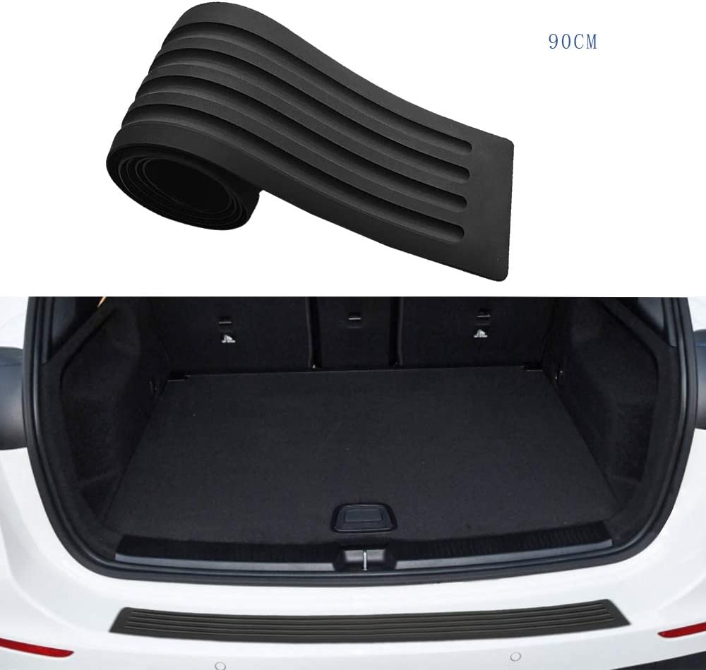 Intget Rear Bumper Guard Protector Trunk Door Entry Sill Guard Scratch-Resistance Rubber Cover Protector for Honda Civic Hatchback Sedan Accessories 90cm,35.43 inch