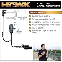 HAWK Police Lapel Microphone QR Earpiece for Vertex Standard VX-537 NYPD Radio