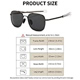 a280810843a SUNGAIT Men s Military Style Polarized Pilot Aviator Sunglasses - Bayonet  Temples (Gunmetal Frame Gray Lens