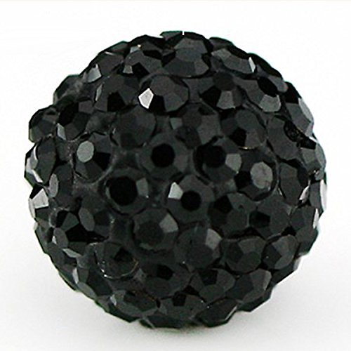 RUBYCA Pave Czech Crystal Disco Ball Clay Beads fit Shamballa Jewelry (100pcs, 8mm, JB - Balls Wholesale Disco