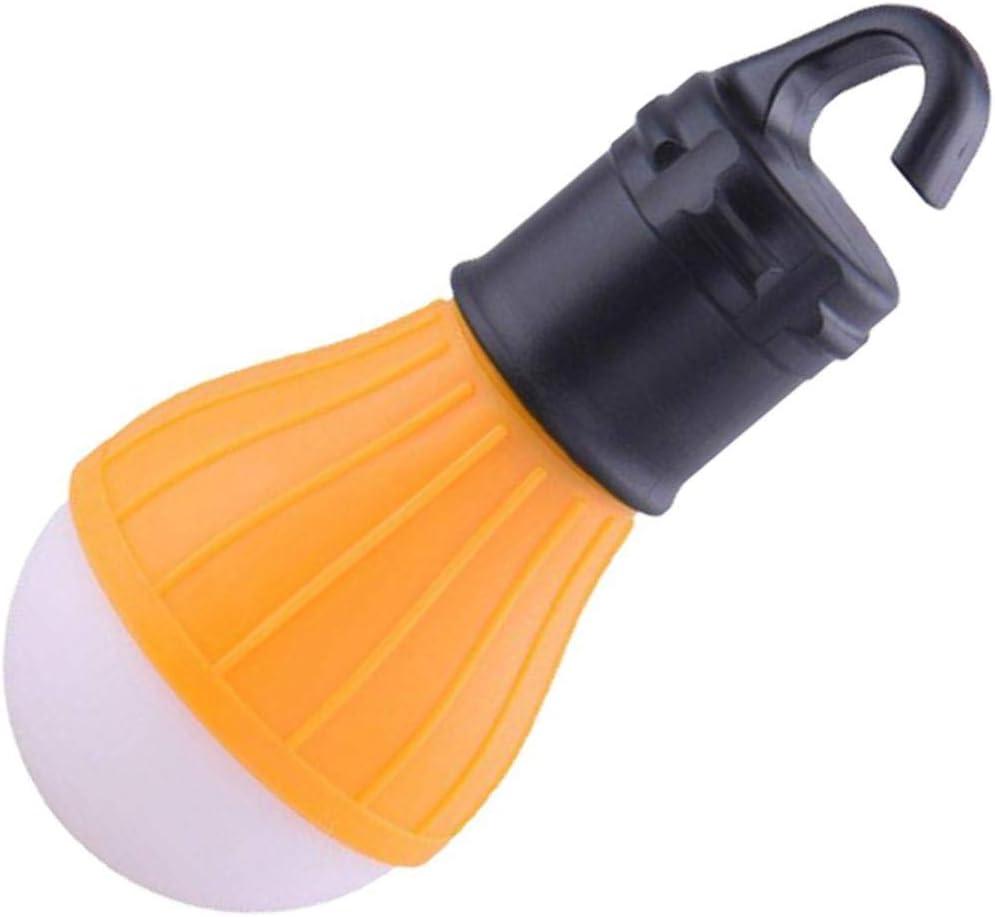 con Gancho Iiloens Multifuncional Color Amarillo tama/ño 12x5.3cm//4.72x2.09inch L/ámpara de Emergencia port/átil con luz LED para Tienda de campa/ña