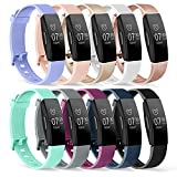 Tobfit Bands Compatible for Fitbit Inspire HR Band/Fitbit Inspire Band/Ace 2, Replacement Wristband Sport Band Strap for Fitbit Inspire HR/Fitbit Inspire/Fitbit Ace 2 Small Large