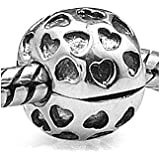 Everbling Showered With Love Clip 925 Sterling Silver Bead Fits Pandora Charm Bracelet