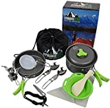 Camping Cookware Mess Kit - 13 pcs, Lightweight, Compact,...