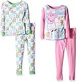 Peppa Pig Toddler Girls' 4pc Cotton Set, Multi, 3T