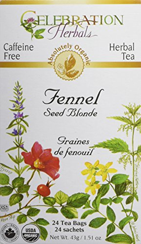 CELEBRATION HERBALS Fennel Seed Blonde Tea Organic 24 Bag, 0.02 Pound - Fennel Tea Bags