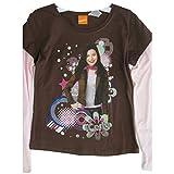 Disney Big Girls Brown Pink Icarly Disco Printed Long Sleeve T-Shirt 7-16