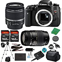 Canon EOS Rebel T6S Camera with 18-55mm IS STM Lens + Tamron 70-300mm AF + 2pcs 16GB Memory + Camera Case + Card Reader + Professional Tripod + 6pc ZeeTech Starter Set