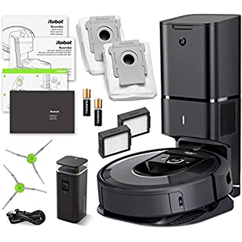iRobot Roomba i7+ (7550) Robot Vacuum Bundle with Automatic Dirt Disposal- Wi-Fi Connected, Smart Mapping, Ideal for Pet Hair (+1 Extra Edge-Sweeping Brush, ...