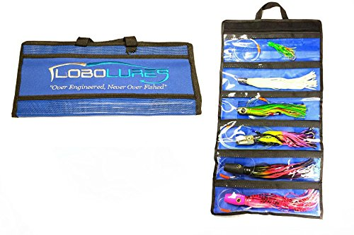 Lobo Lures 6 Pocket Big Game Trolling Lures Roll-up Storage Tackle Bag