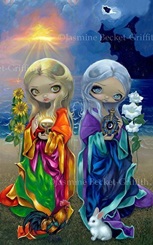Sun Child And Moon Child  Signed Glossy Photo Art Prints By Jasmine Becket Griffith