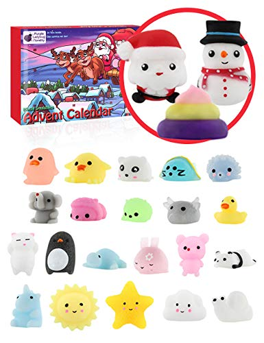 Halloween Home Makeup Tutorial (Purple Ladybug Novelty The Original Mochi Squishy Toys 2019 Advent Calendar for Kids, with 24 Different Kawaii Jelly Mochi Squishies Including Santa! Christmas Countdown Calendars for Girls and)