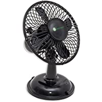 Connectland USB Mini Desktop Fan, Home and Office, Light Weight Plastic Black Oscillatory, Battery CL-ACC65015