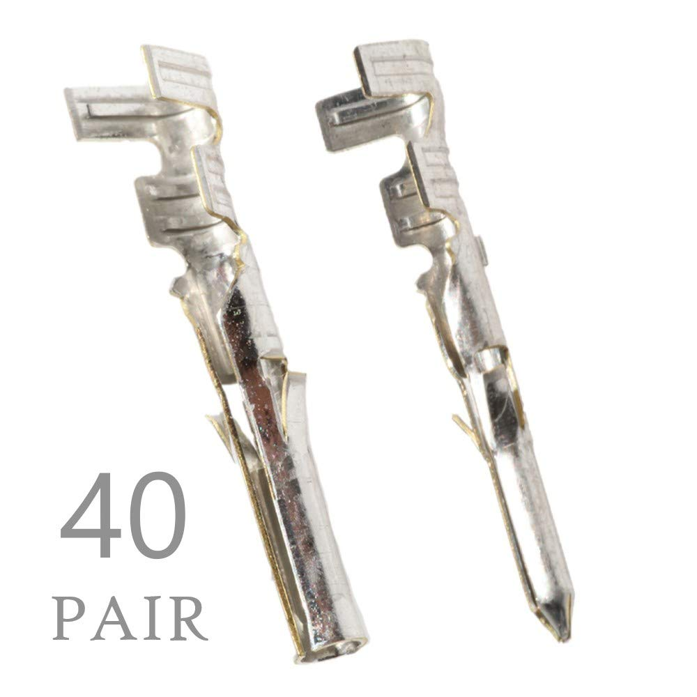 Male /& Female .062 18-24 AWG 20 Pair Molex Pin Sn Plated Brass Contact Series 1561 Tin