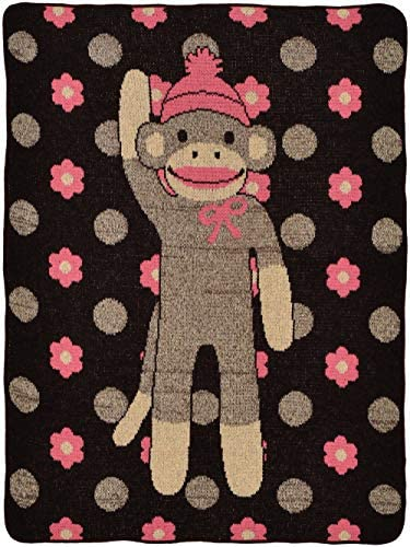 Green Flower Monkey Throw Chocolate product image