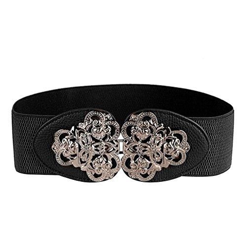 AWAYTR Womens Fashion Vintage Wide Elastic Stretch Waist Belt Waistband