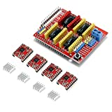 Gowoops CNC Shield V3 Expansion Board + 4PCS A4988 Step Motor Driver with Heatsinks for Arduino 3D Printer
