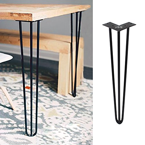 ZEKOO 4 PCS Hairpin Breakfast Coffee Bar Worktop Wood Metal Table Support Table Kitchen Leg Square Round (34 Inch (86 cm))