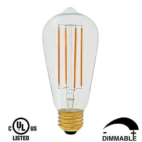 Dr.Lamp ST18 3W Vintage Lighting Led Light Bulb,Replace 40W Incandescent,Led