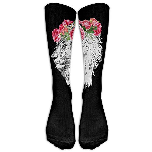 Theatre King Lion Costumes (Unisex Knee High Long Socks The Lion King Head With Wreath Cosplay High Long Stockings)