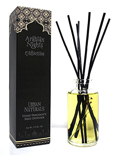 Urban Naturals Arabian Nights Home Fragrance Reed Diffuser Set | Arabian Tea, Dark Amber, Cedar and Black (Arabian Amber Oil)