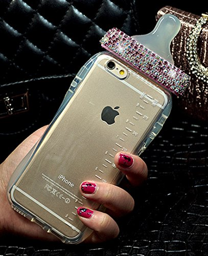 - Losin Babybottle Case Compatible with Apple iPhone 7 Plus / iPhone 8 Plus 5.5 Inch Ultra Thin Luxury Fashion Diamond 3D Baby Milk Bottle Soft TPU Back Case