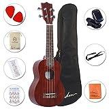 ADM Soprano Ukulele 21 Inch Mahogany Professional with Ukulele Set Gig Bag, Tuner, Fingerboard Sticker, Strap