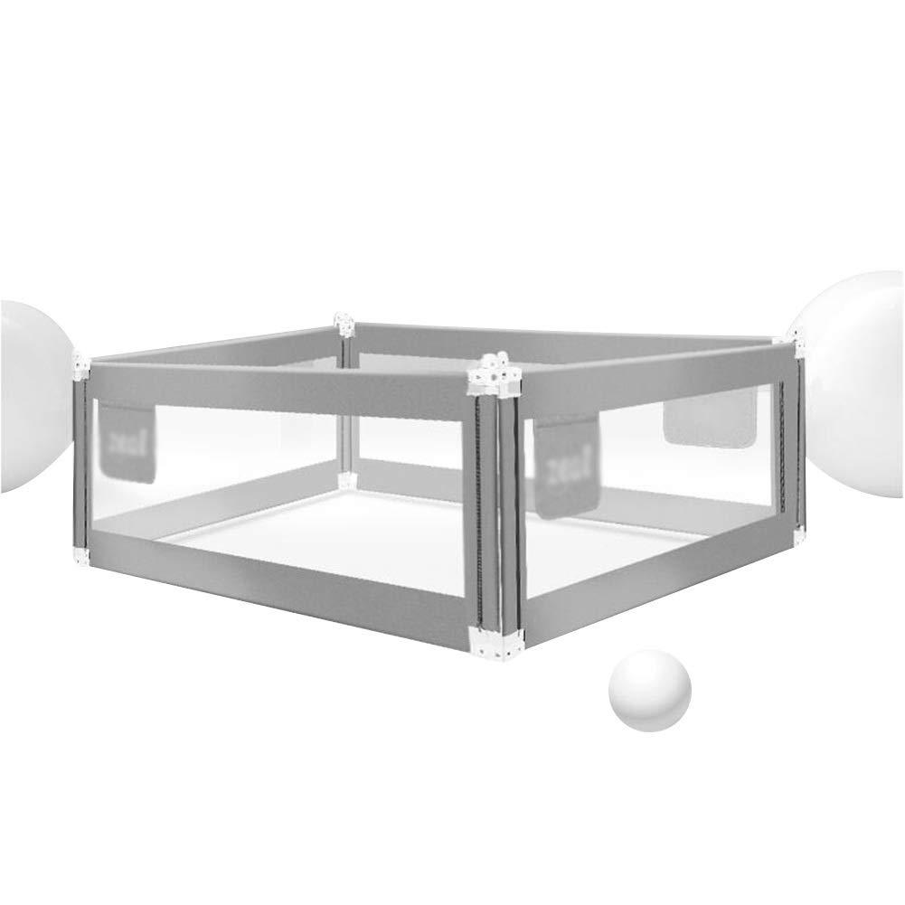 XJJUN ベッドフェイス子供用ベッドガードレール高まり収納バッグ大きいベッド通気性幼児向け、2色,4サイズ (Color : Gray, Size : 2x1.5x0.68-0.85m) 2x1.5x0.68-0.85m Gray B07SMNZ2W2