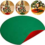 Boao 30 Inch Reversible Christmas Tree Stand Mat Accessory Floor Protection and Christmas Holiday Party Decoration, Red and Green