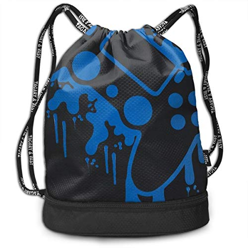 Drawstring Backpack PlayStation Video Game Controller Painting Gym Bag