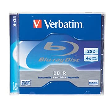 Verbatim 96434 25 Gb 4x Blu-ray Single-layer Recordable Disc Bd-r, 1-disc Jewel Case (Discontinued By Manufacturer) 0