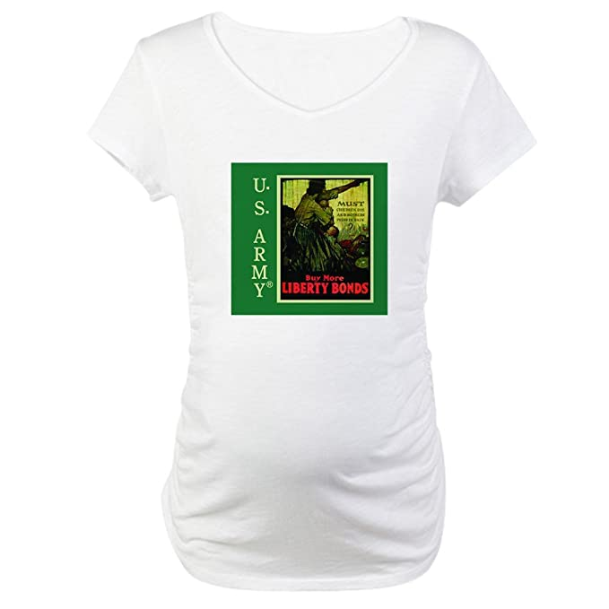 48b4cddc152fd CafePress Buy More Liberty Bonds Cotton Maternity T-Shirt, Cute & Funny Pregnancy  Tee